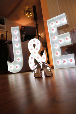 Leuchtbuchstaben verleihen jedem Saal das gewisse Extra
