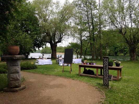 Heiraten am See mit wunderschönem Park