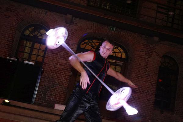 zum späten Abend gab es eine fantastische LED-Show
