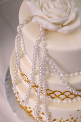 Details der Hochzeitstorte