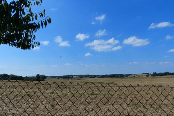 Blick vom Grundstück Richtung Tessin