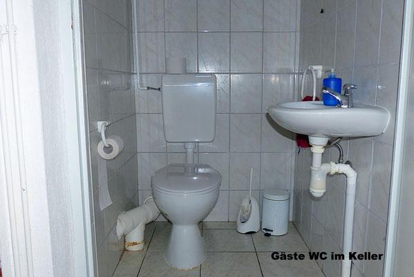 Gäst-WC im Kellerbereich