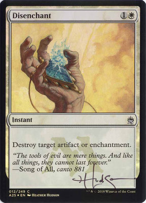Disenchant English Masters 25 foil artist proof