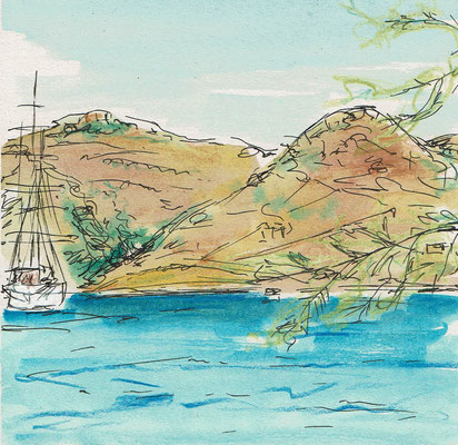Skizze 1 Amorgos (15x15cm)