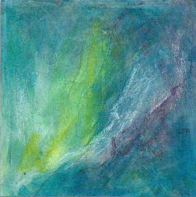 Grünblau 1 (15x15cm)