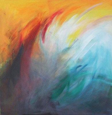 Feuer und Wasser (80x80cm)