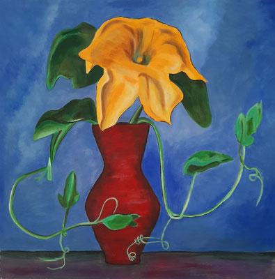 Kürbisblüte - nach Gabriele Münter (60x60cm)