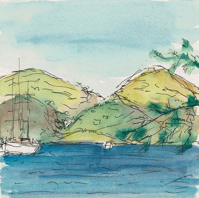 Skizze 3 Amorgos (15x15cm)