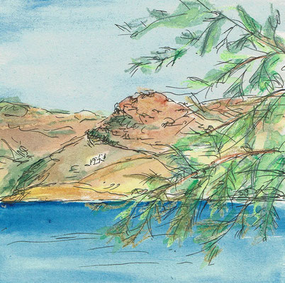 Skizze 2 Amorgos (15x15cm)