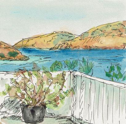 Skizze 4 Amorgos (15x15cm)