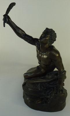bronze barbedienne collas le soldat de marathon