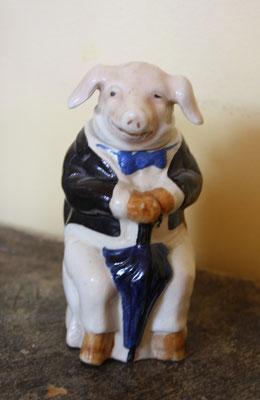pot de moutarde publicitaire en forme de cochon de la maison E Bouilly  à Meursault,très bon état . prix : 80 euros