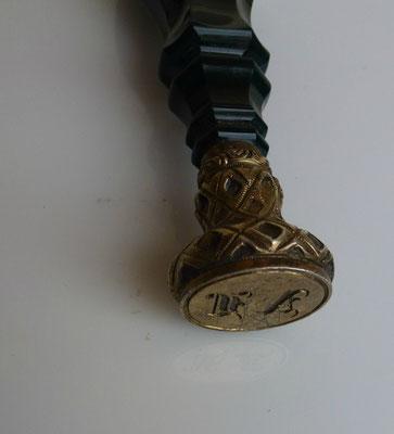 sceau tampon cachet  en jaspe
