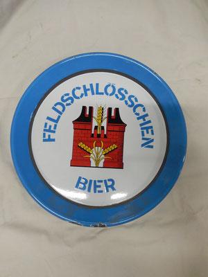 plaque émaillé bier feldshlosschen   diametre 41 cm   Prix : 120 euros