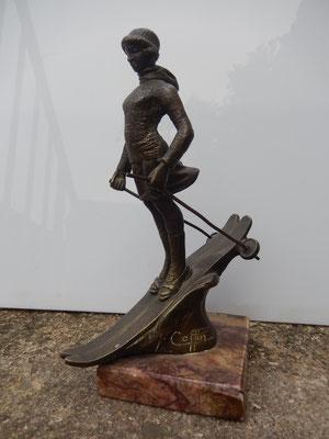 bouchon de radiateur en bronze .F Coffin