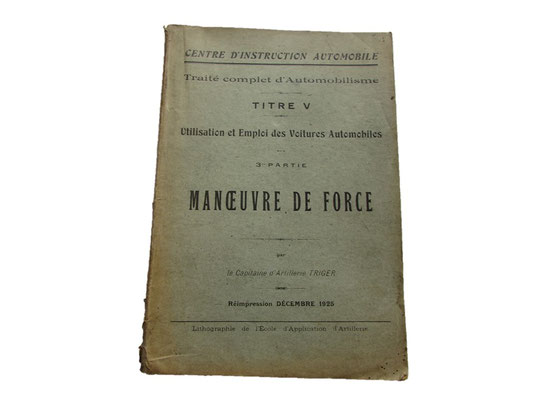 manoeuvre de force :15 euros