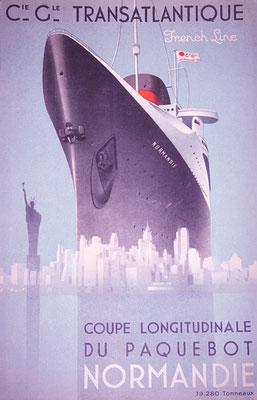 dépliant paquebot transatlantique Normandie