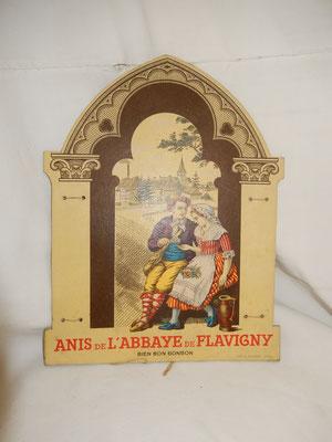 publicité cartonné  anis de Flavigny   Prix : 45 euros