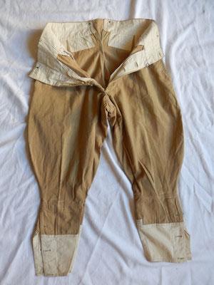 pantalon français toile ww1