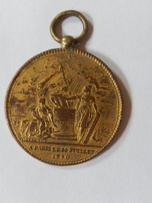 médaille des confédération des François . prix :    45 euros