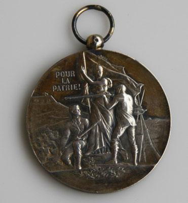 médaille en argent (50 gr,4.7 cm . )société de tir du 58 éme régiment territorial d'infanterie .dijon . prix : 80 euros