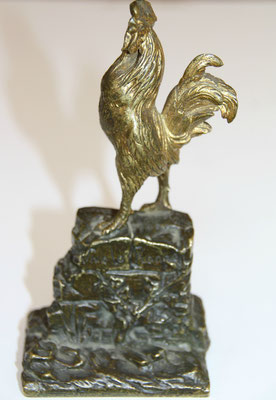 bronze Coq  Caïn Masson