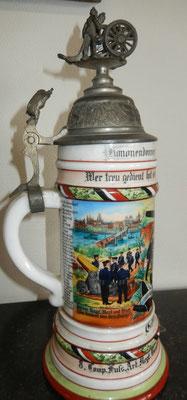 chope de réserviste artillerie allemand  prussien ww1