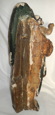 vierge à l enfant en bois polychrome