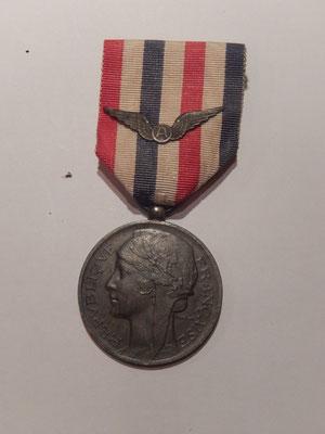 médaille aéronautique attribuée  model argent 40 euros