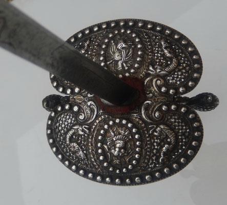 épée de marine en argent  XVIII°siècle