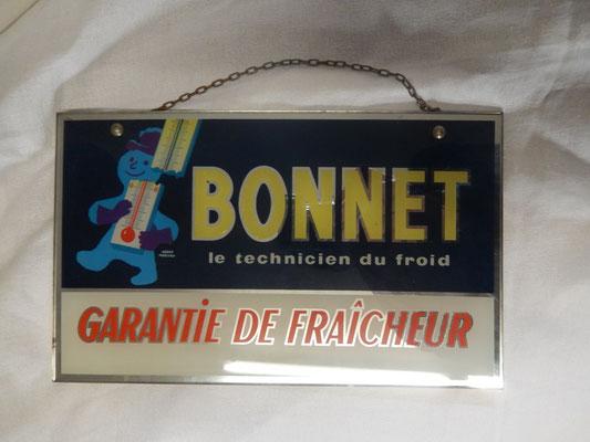 fixé sous verre BONNET par Hervé Morvan  28 x 17 cm  prix : 45 euros