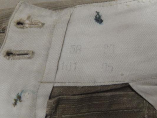 pantalon officier en toile DAK WW2