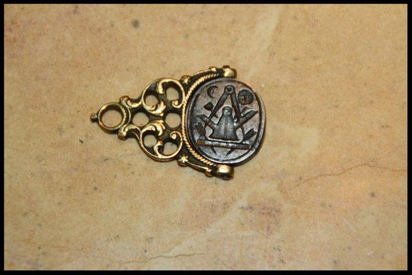 sceau fer forgé emblème maçonnique