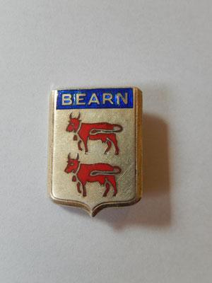 BEARN  Drago-Paris-Nice attache poinçonnée argent  leger eclat emaille bleu , Prix : vendu