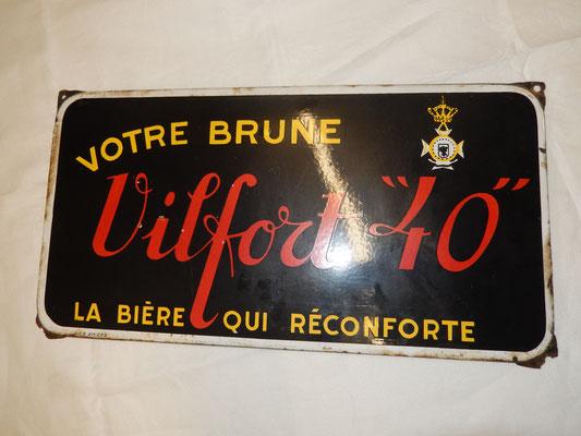 """bière vilfort """"40""""  58,5 cm x 30 cm Prix :150 euros"""
