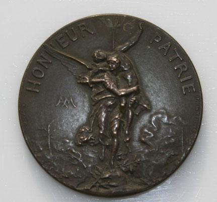 médaille par Ch Marey ( 4.5 cm). union des sociétés de tir  de france .VII concours national.prix : 50 euros