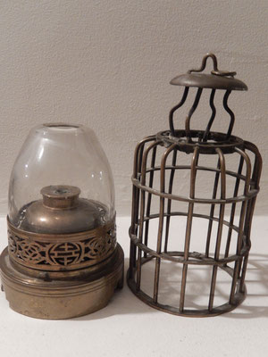 lampe a opium a cage indochine