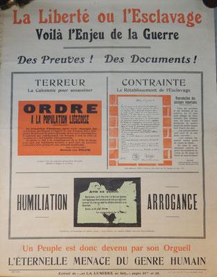 affiche la liberté ou l'esclavage  Prix : 50 euros