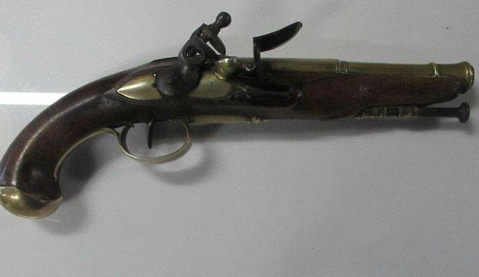 pistolet silex officier de marine