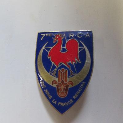 7 em regiment  chasseur d'Afrique dos lis argenté  , sans fabricant . prix 60 euros