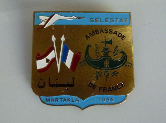 insigne ambassade de france liban : 10 euros