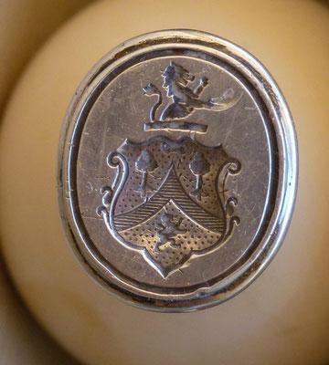 sceau en ivoire et argent