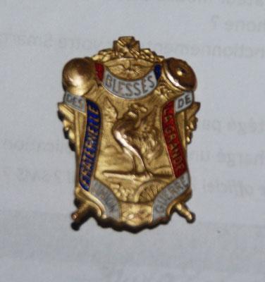 insigne union fraternelle des blessés de la grande guerre .3.8 cm .prix : 40 euros