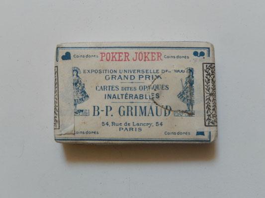 carte à jouer ancien  Grimaud