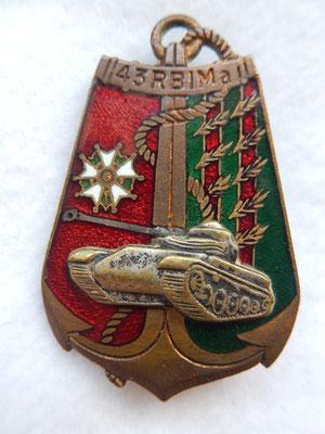 43 régiment d'infanterie de marine  DP g :1719  prix : 10 euros