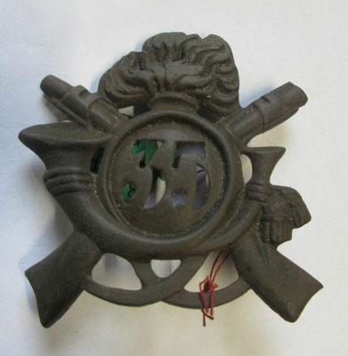 plaque de giberne ou de coiffure italienne 19  siècle ,pièce de fouille en bronze coulé .prix 60 euros