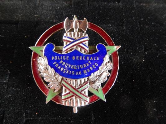 insigne Directeur de de Police  , police générale protectorat français au maroc matriculé 197 Prix : 350 euros