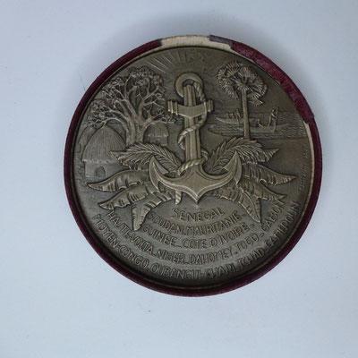 médaille en argent centenaire des troupes africaines