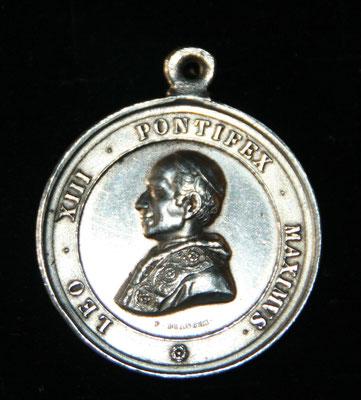 medaille de Leon XIII en argent (21 gr diam37mm) par F Bianchi .prix 90 euros