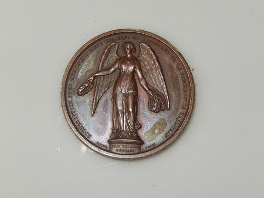 Mazagran médaille en cuivre de  37 mm par Caqué ,souscription pour la colonne. prix : 180  euros